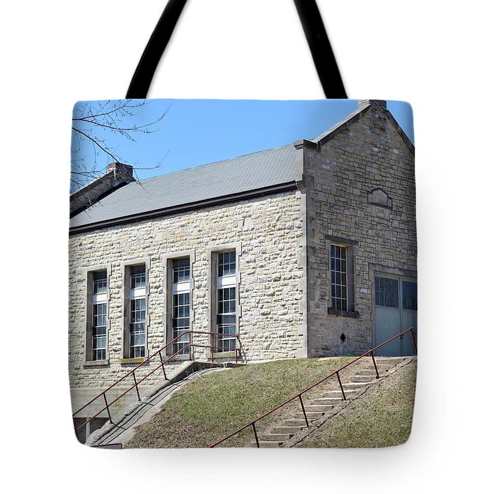 Dam Tote Bag featuring the photograph Historic Power by Bonfire Photography