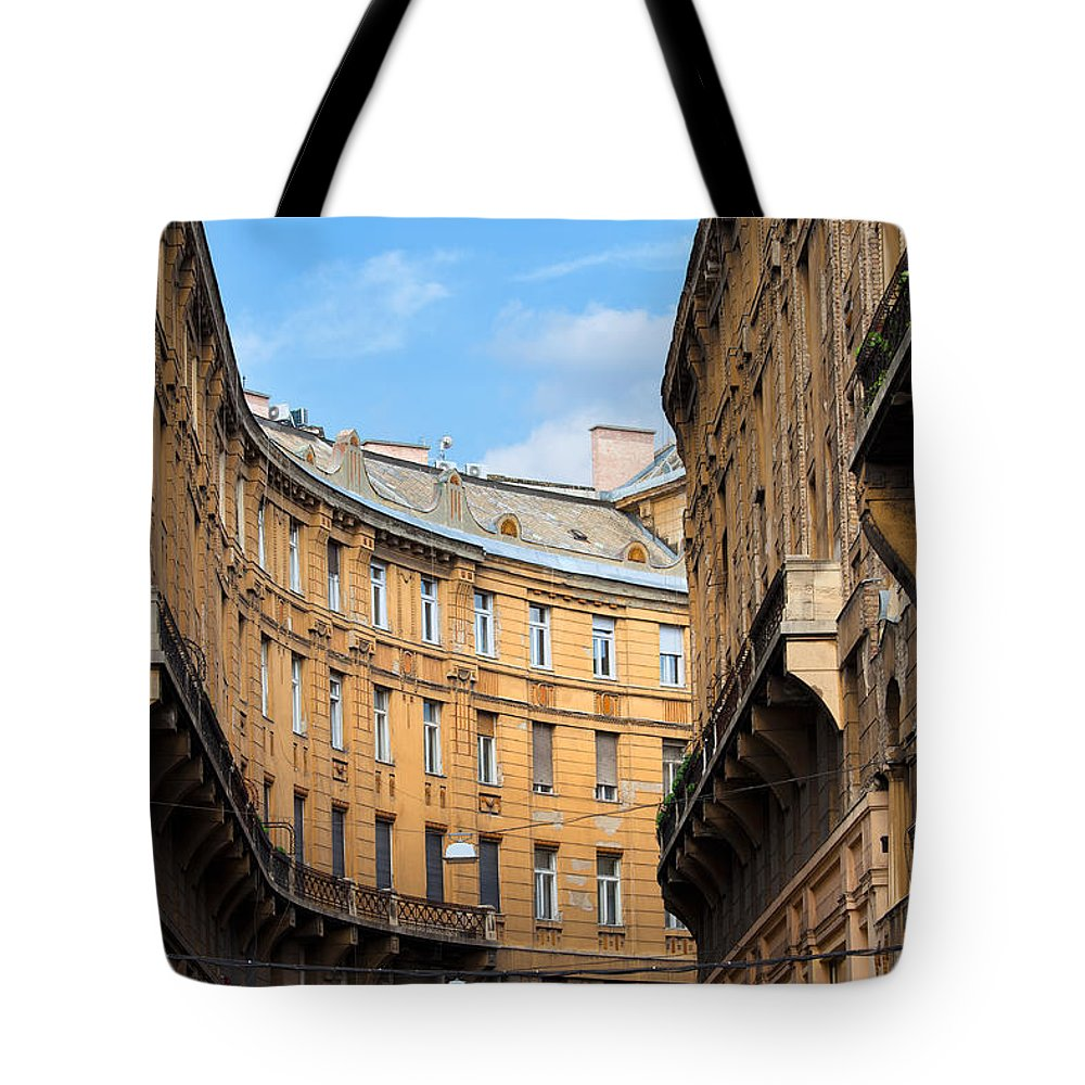 Building Tote Bag featuring the photograph Historic Tenement Houses In Budapest by Artur Bogacki