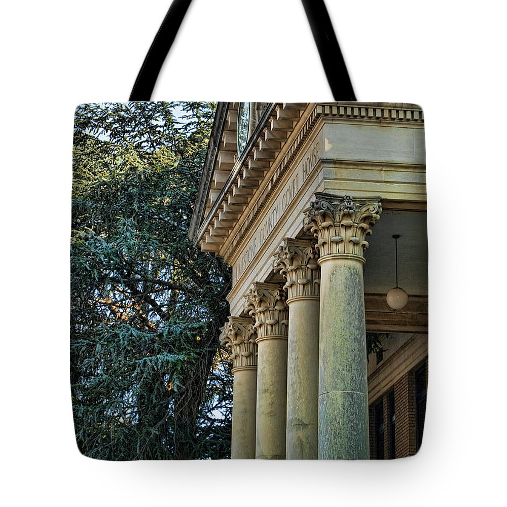 Historical Tote Bag featuring the photograph Historical Athens Alabama Courthouse by Kathy Clark