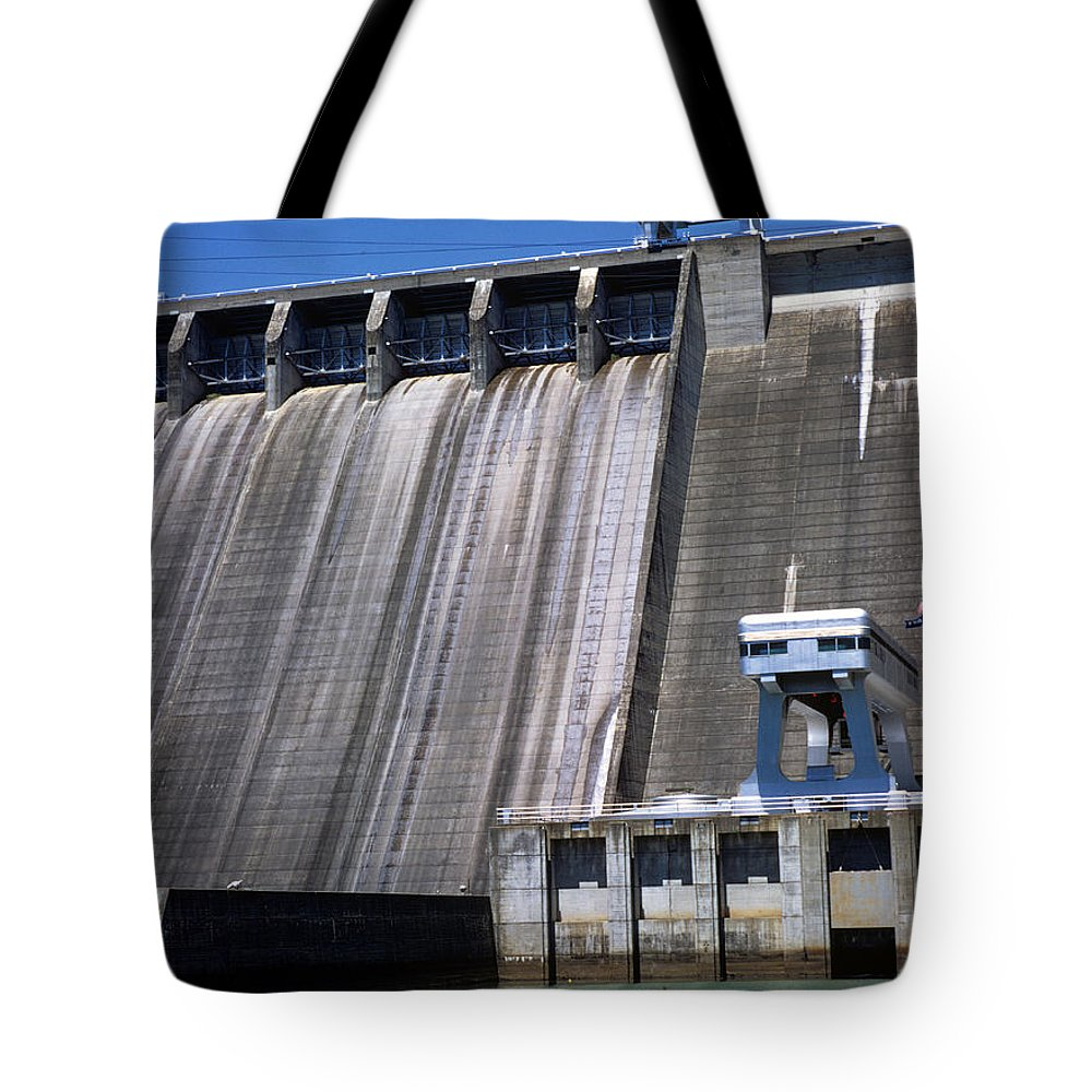 Landscapes Tote Bag featuring the photograph Hiwassee Dam 3 by Deborah Good