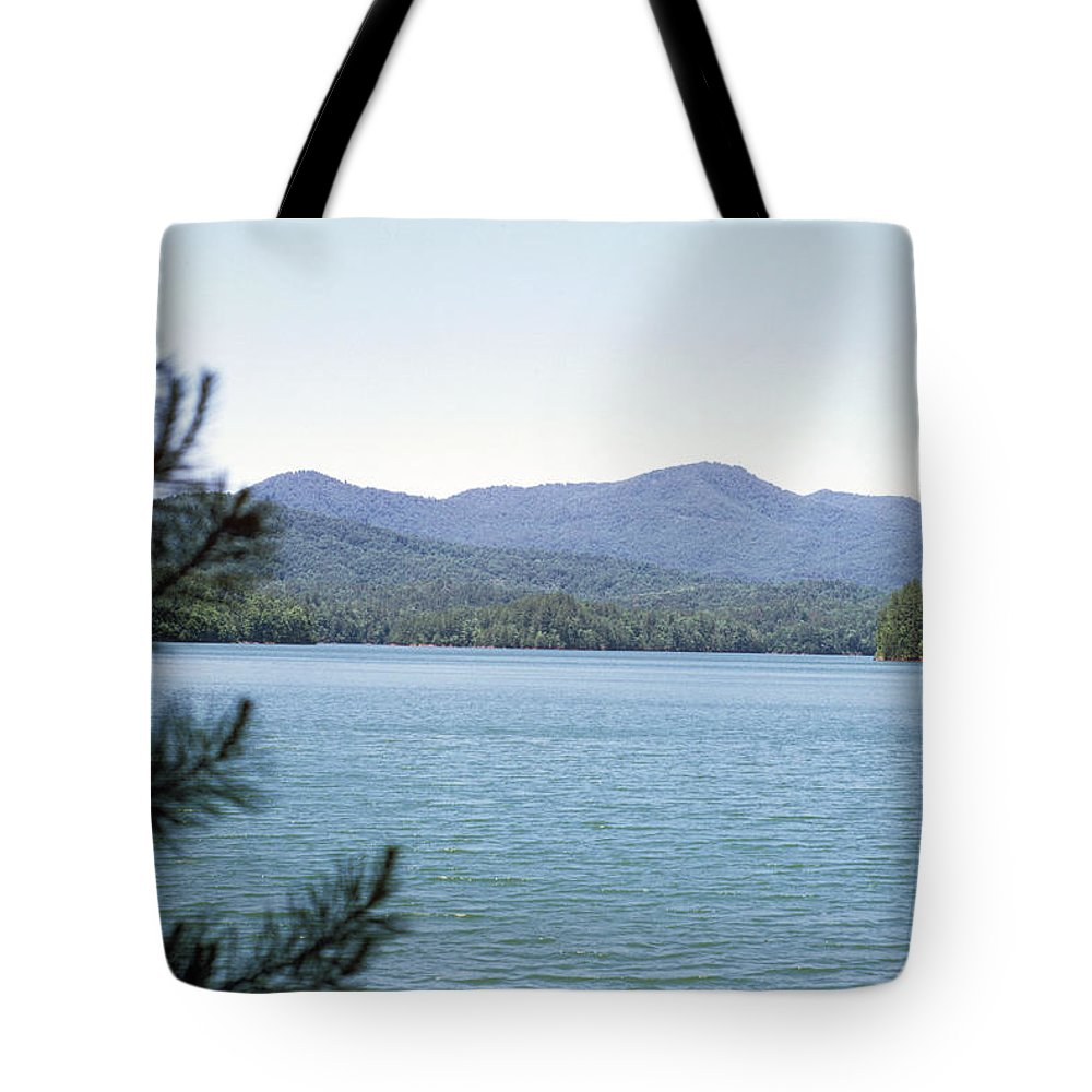 Landscapes Tote Bag featuring the photograph Hiwassee Lake 1 by Deborah Good