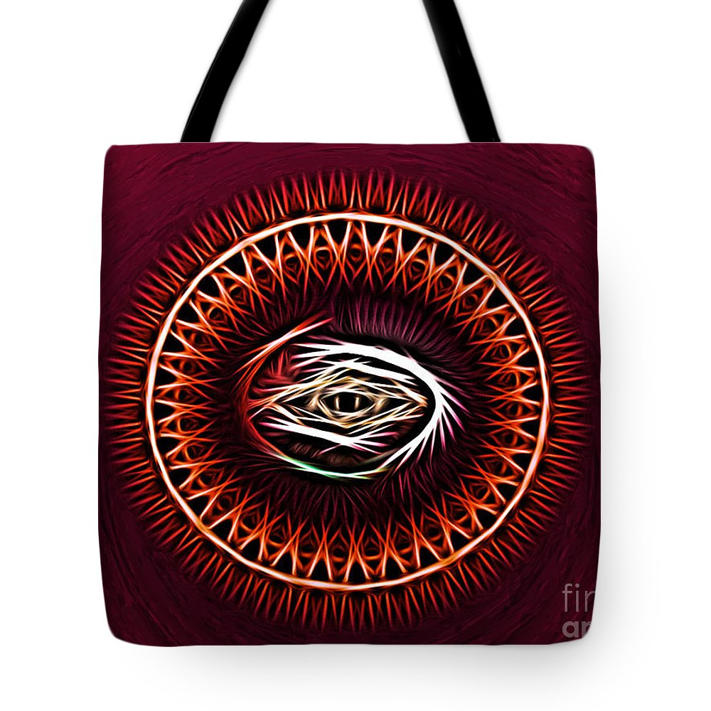 Art Tote Bag featuring the digital art Hj-eye by Vix Edwards