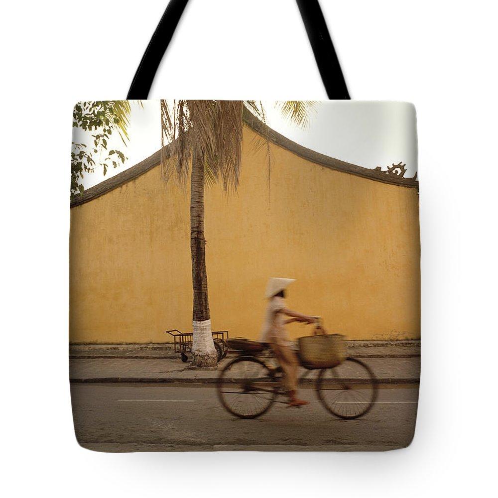 Conical Hat Tote Bag featuring the photograph Hoi An Dawn by Shaun Higson