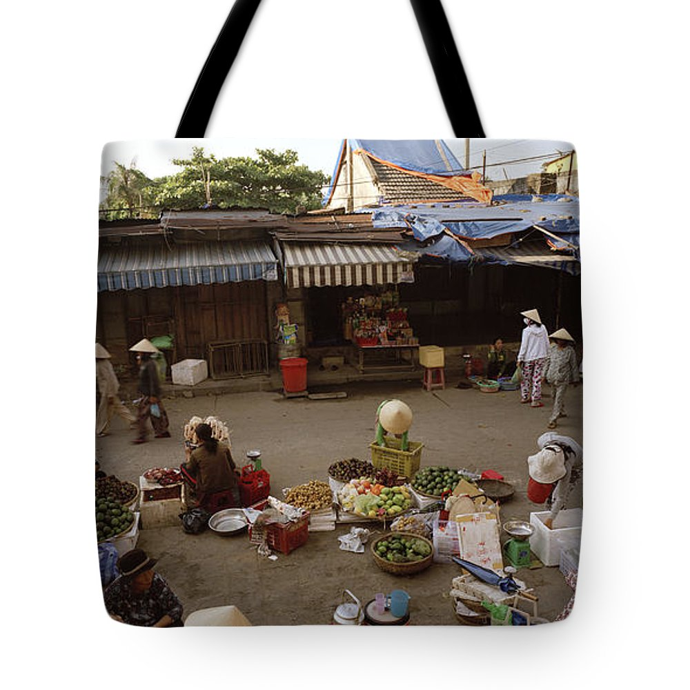 Hoi An Tote Bag featuring the photograph Hoi An Market by Shaun Higson