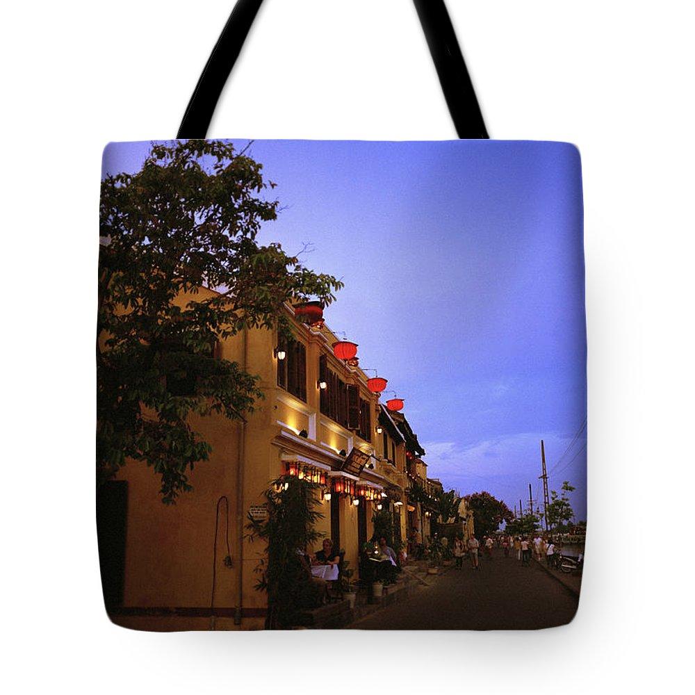 Hoi An Tote Bag featuring the photograph Hoi An Night by Shaun Higson