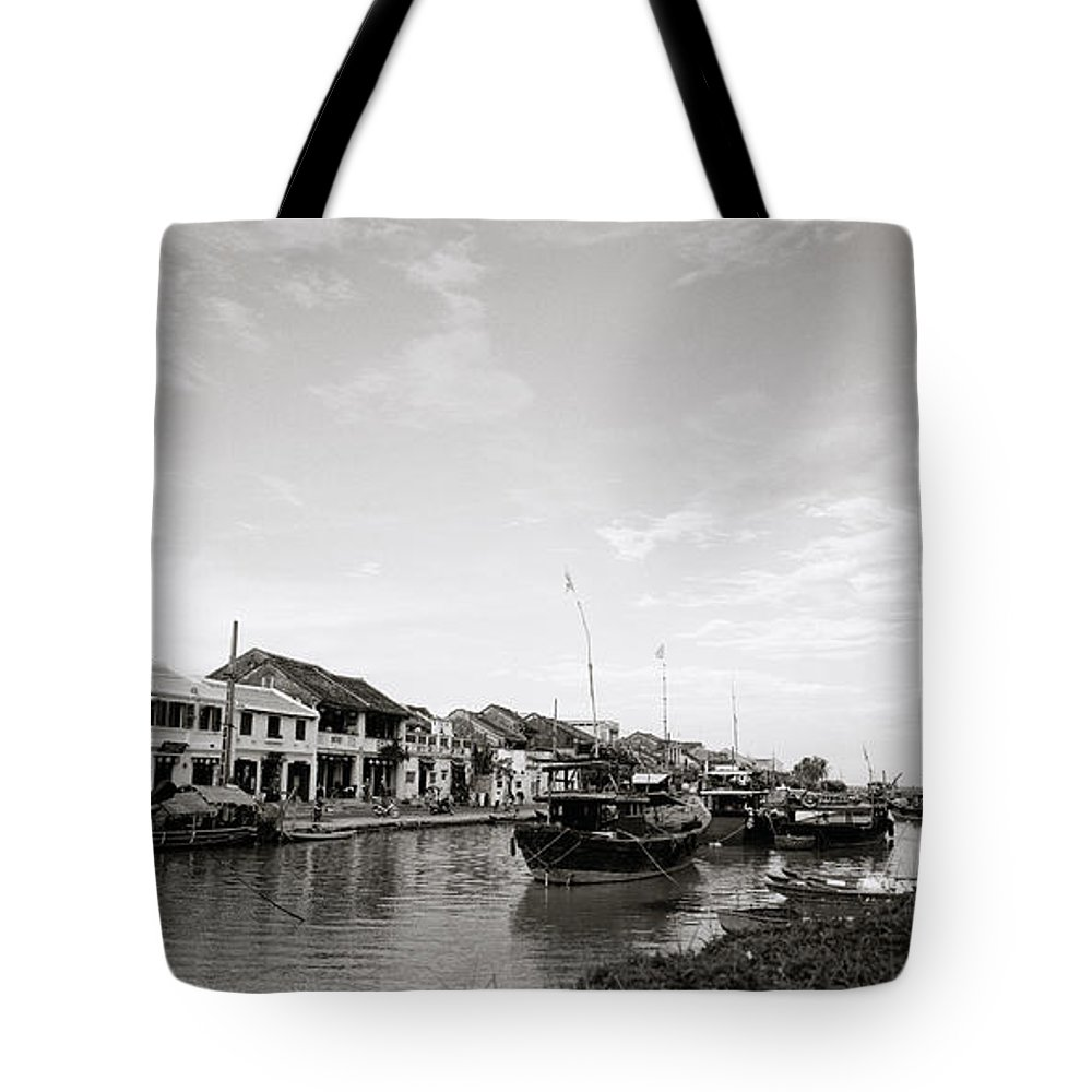 Hoi An Tote Bag featuring the photograph Hoi An Riverfront by Shaun Higson