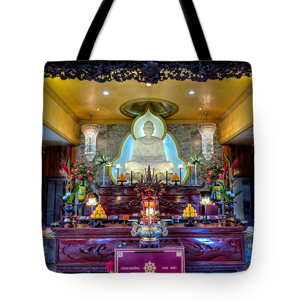 Temple Tote Bag featuring the photograph Hoi Thanh Buddhist Temple by Tim Stanley