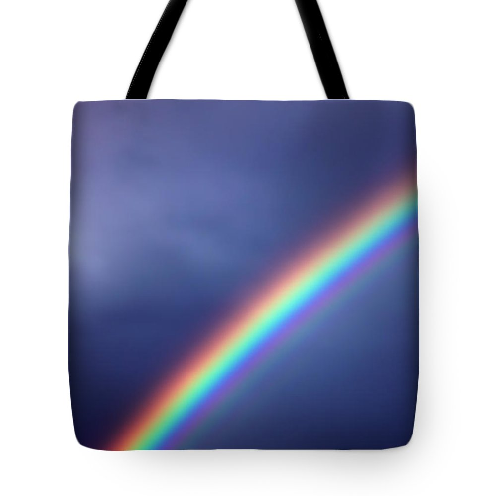 Rainbow Tote Bag featuring the photograph Hold On For Hope by Amanda Barcon