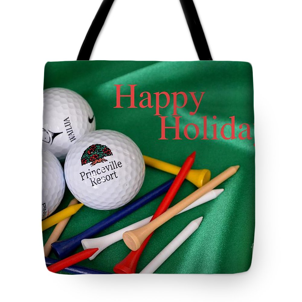 Golf Tote Bag featuring the photograph Holiday Golf by Mary Deal