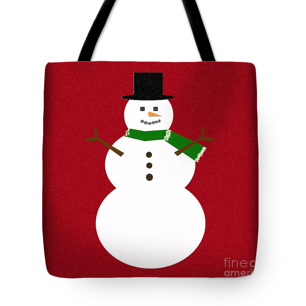 Christmas Tote Bag featuring the digital art Holiday Hugs by Amanda Barcon