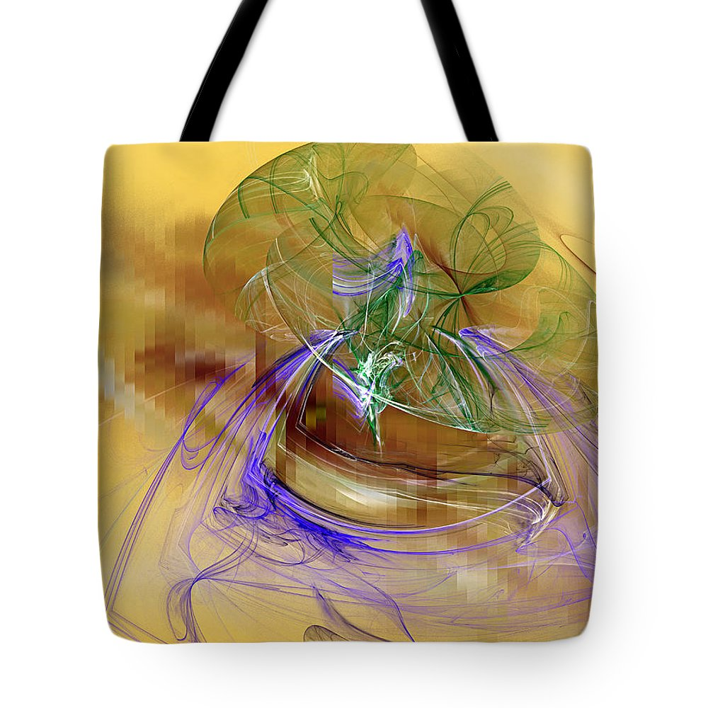 Abstract Tote Bag featuring the digital art Holiday In Cambodia by Jeff Iverson