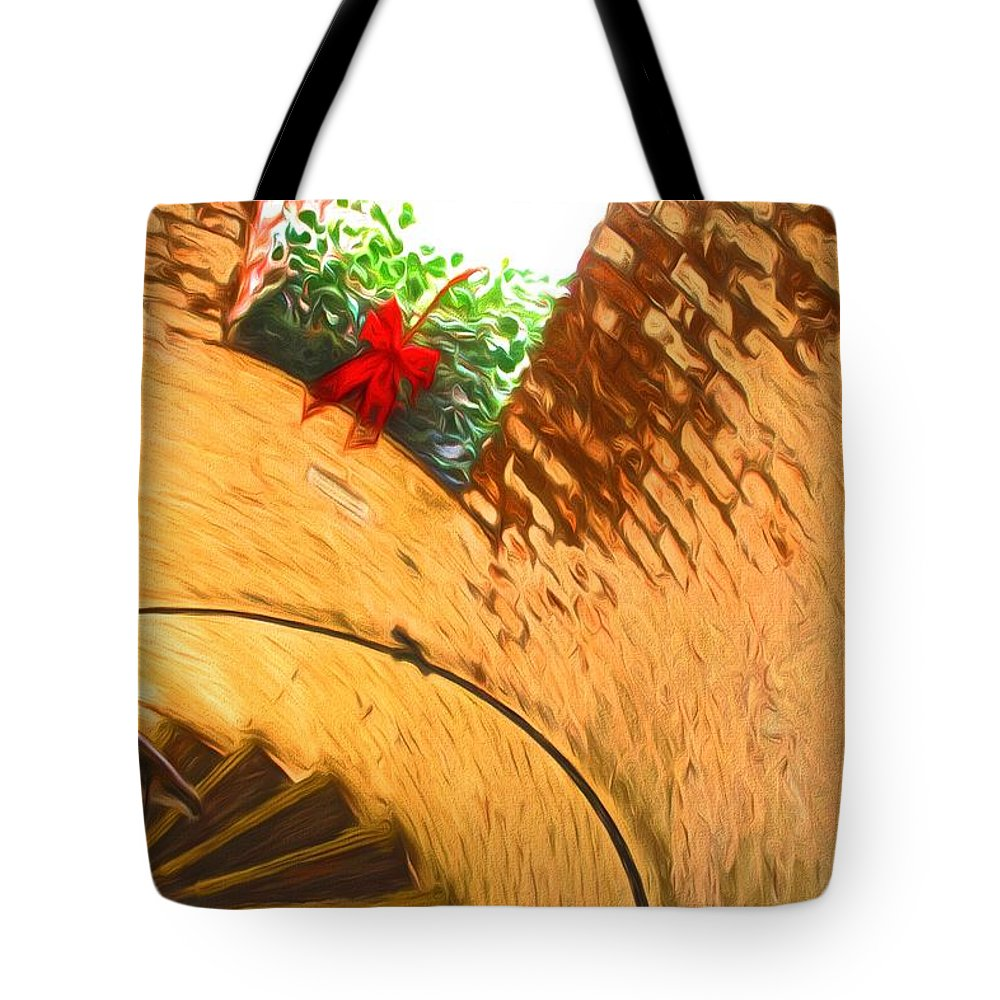 Lighthouse Tote Bag featuring the photograph Holiday In The Lighthouse by Alice Gipson