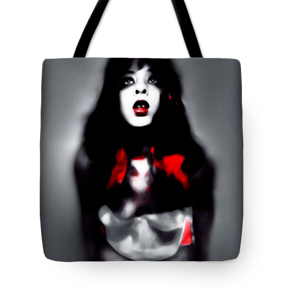 Black Tote Bag featuring the photograph Holly Shivers by Jessica Shelton