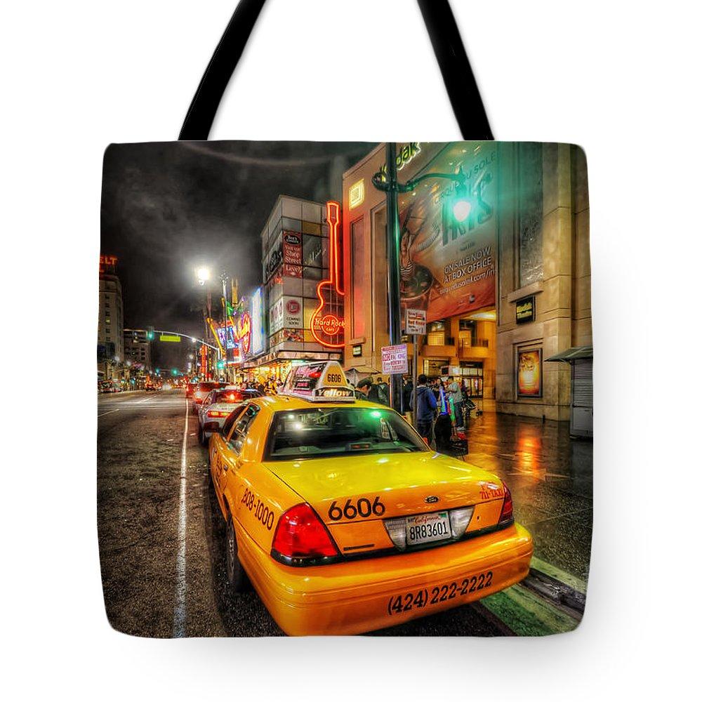 Yhun Suarez Tote Bag featuring the photograph Hollywood Boulevard by Yhun Suarez