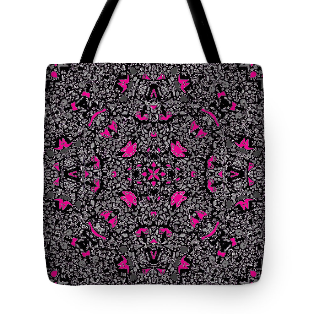 Kaleidoscope Tote Bag featuring the digital art Hollywood Hills by Joy McKenzie