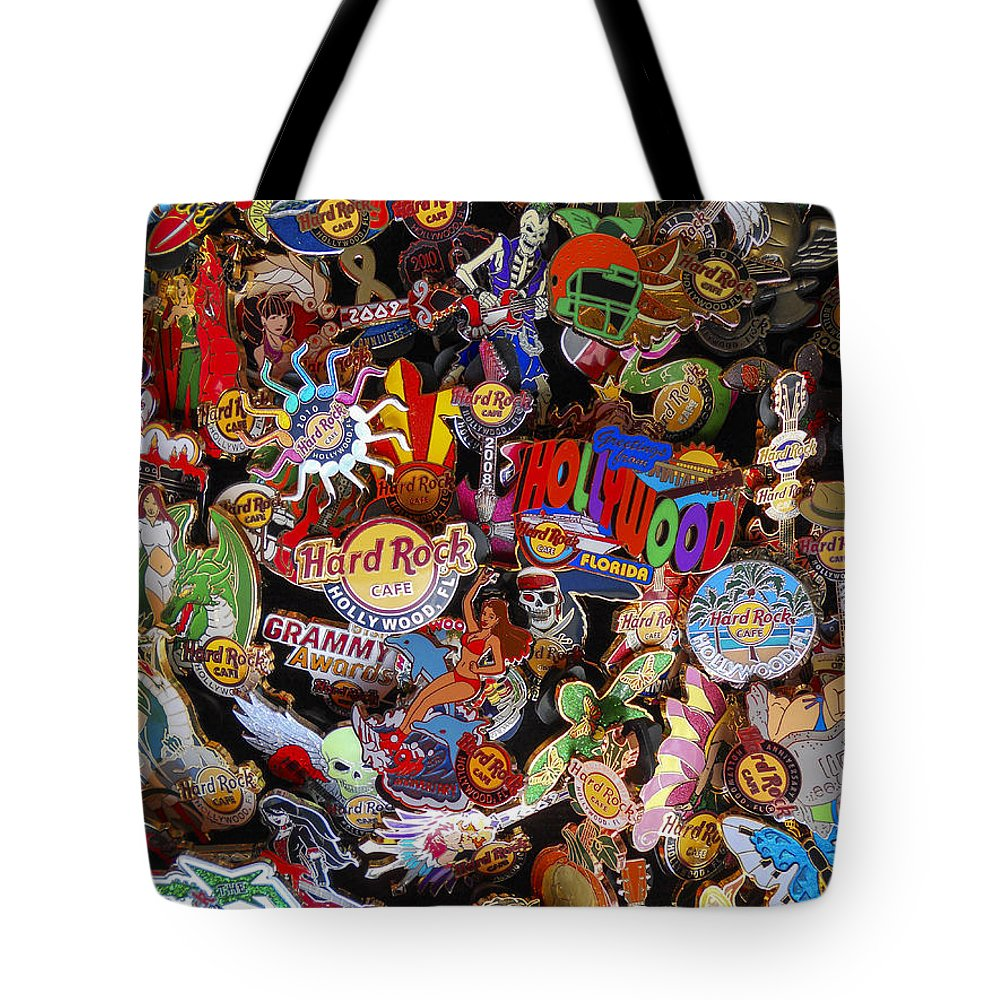 Florida Tote Bag featuring the photograph Hollywood Hrc Pins by Nancy L Marshall
