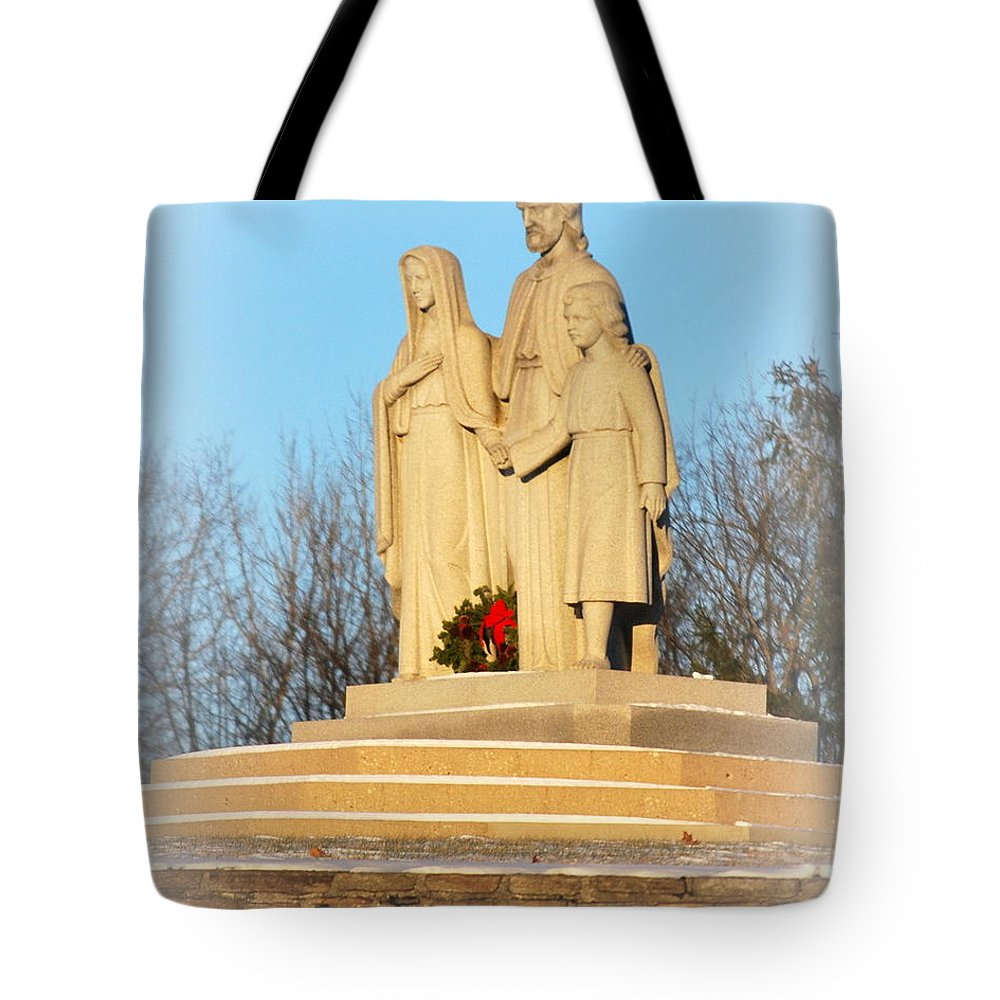 Jesus Tote Bag featuring the photograph Holy Family by Scott Polley