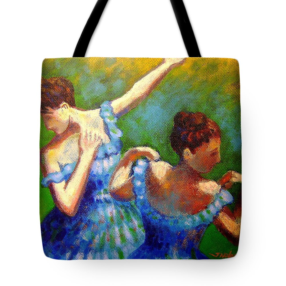 Dance Tote Bag featuring the painting Homage To Degas by John Nolan