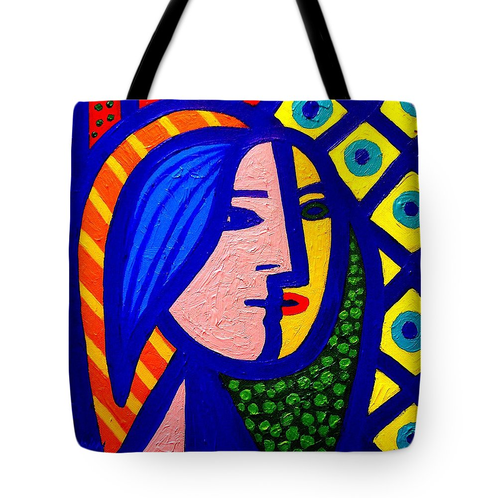 Vincent Van Gogh Tote Bag featuring the painting Homage To Pablo Picasso by John Nolan
