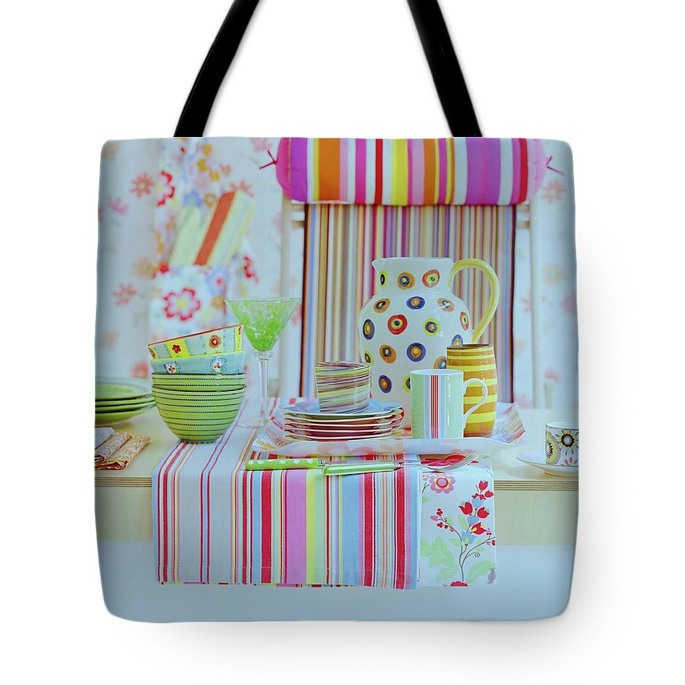 Kitchen Tote Bag featuring the photograph Home Accessories by Romulo Yanes