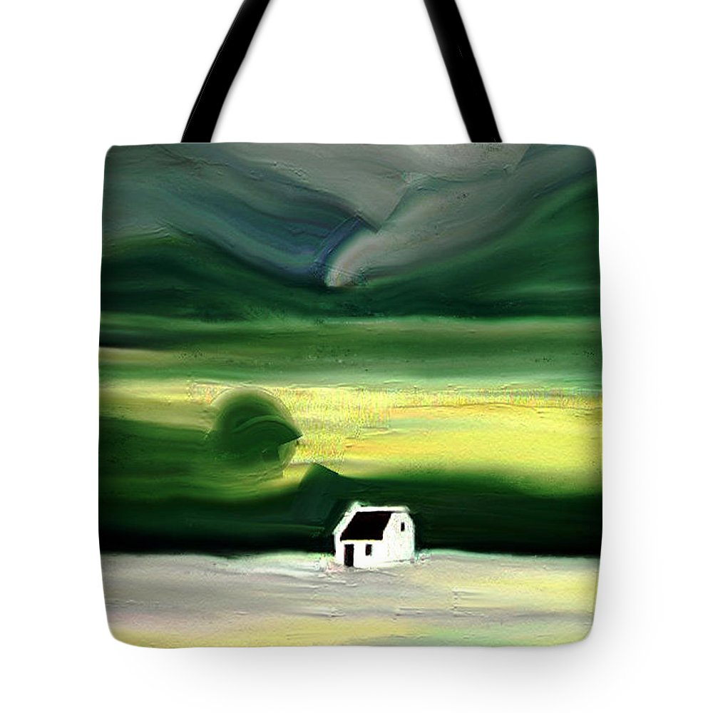 Expressive Tote Bag featuring the mixed media Home Alone by Lenore Senior