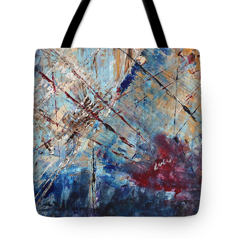 Home Decor Tote Bag featuring the painting Home Is Where The Heart Is by Lucy Matta