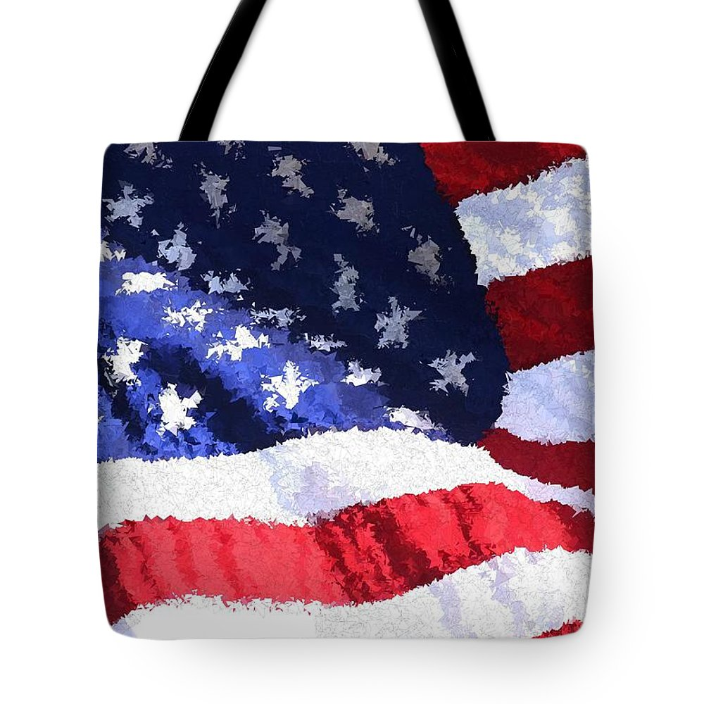 Flag Tote Bag featuring the painting Home Of The Brave by Bruce Nutting