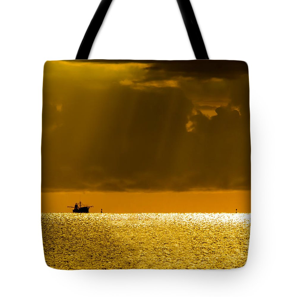 Seascape Tote Bag featuring the photograph Home Stretch by Marvin Spates