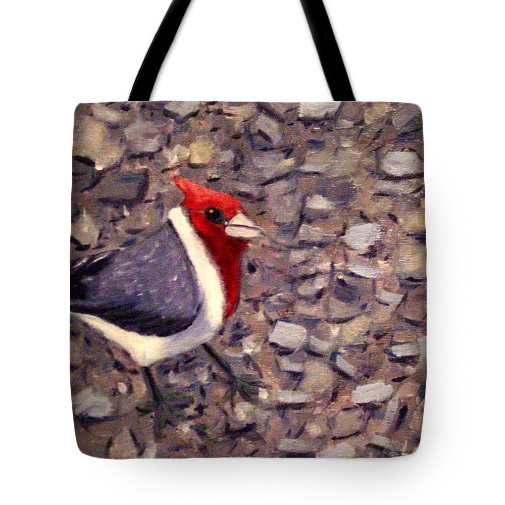 Bird Tote Bag featuring the painting Home Turf by Laurie Morgan