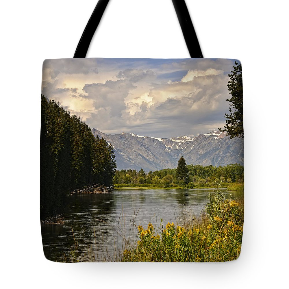 Vista Tote Bag featuring the photograph Homeground Waters Landscape by Timothy Flanigan
