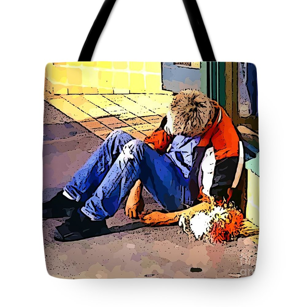 Homeless In Seattle Tote Bag featuring the photograph Homeless In Seattle by John Malone