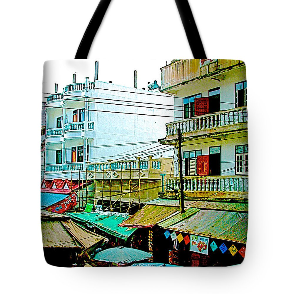 Homes In Tachilek Tote Bag featuring the photograph Homes In Tachilek-burma by Ruth Hager
