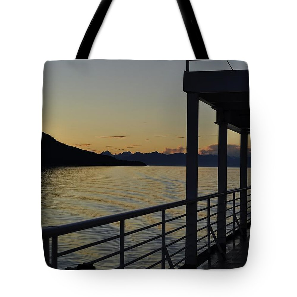 Boat Tote Bag featuring the photograph Homeward Bound On The M/v Malaspina by Cathy Mahnke