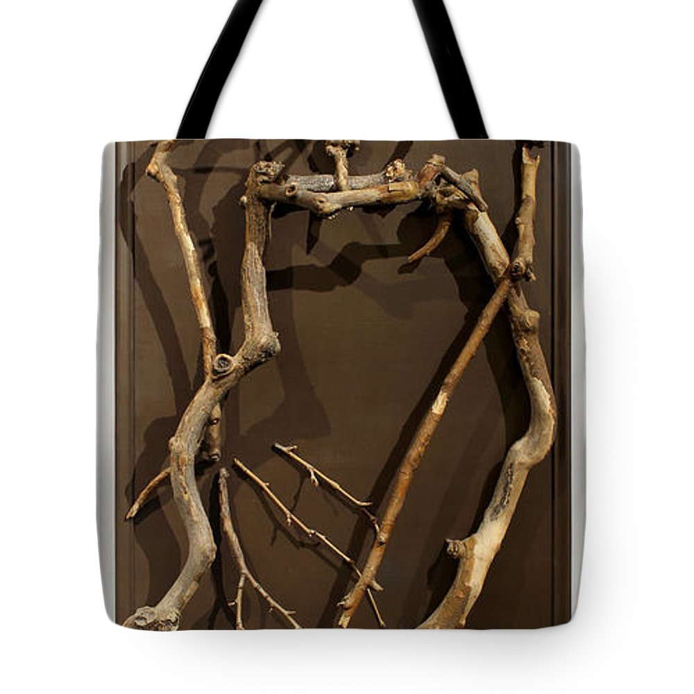 Groot Tote Bag featuring the sculpture Homosycamorous Or We Evolved From Trees by Adam Long