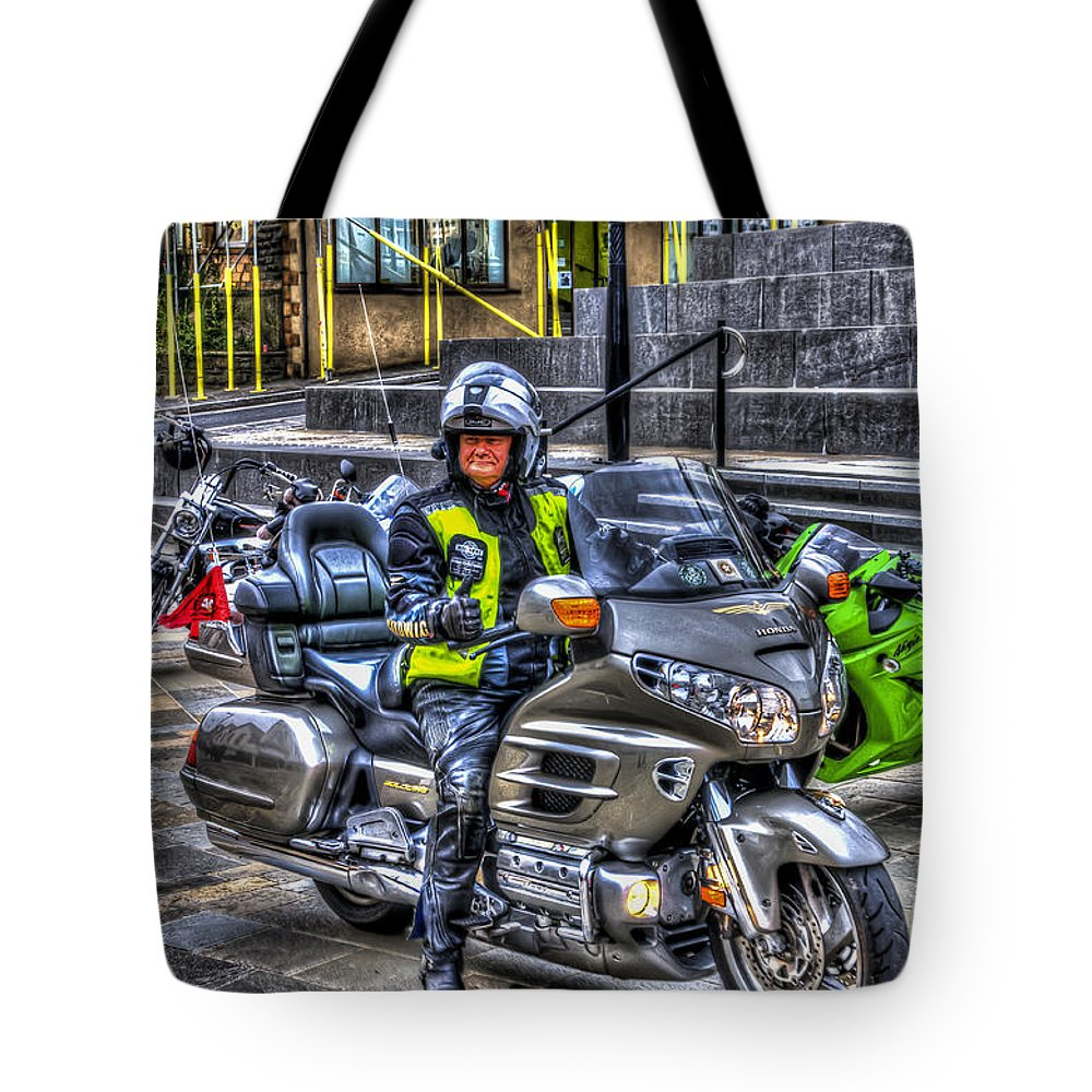 Honda Goldwing Tote Bag featuring the photograph Honda Goldwing by Steve Purnell