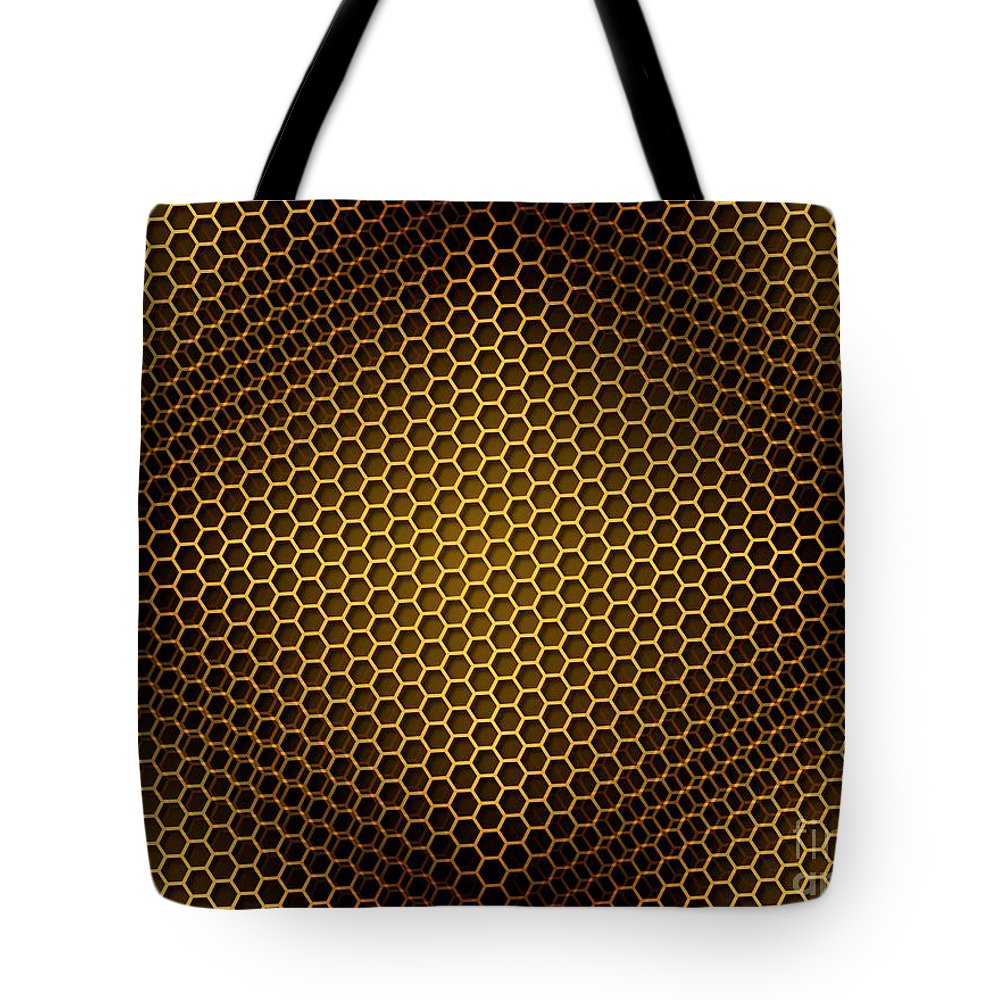 Seamless Tote Bag featuring the digital art Honeycomb Background Seamless by Henrik Lehnerer