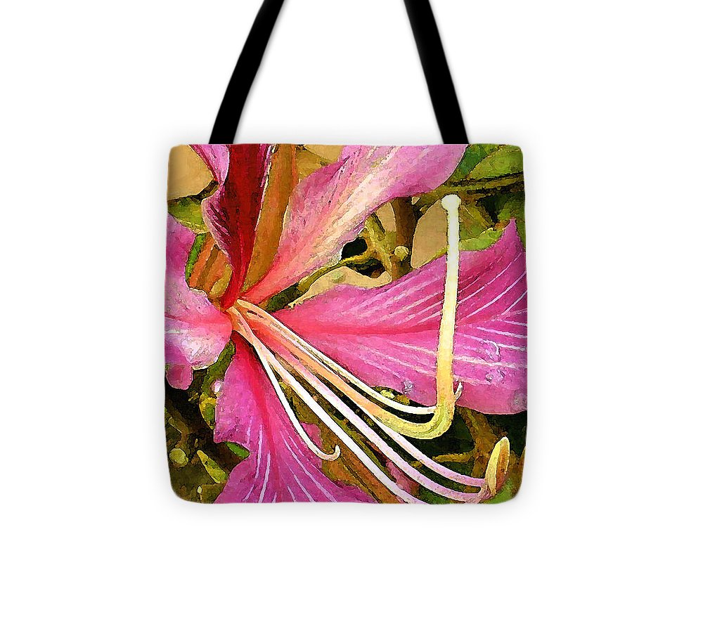 James Temple Tote Bag featuring the photograph Hong Kong Orchid Tree by James Temple