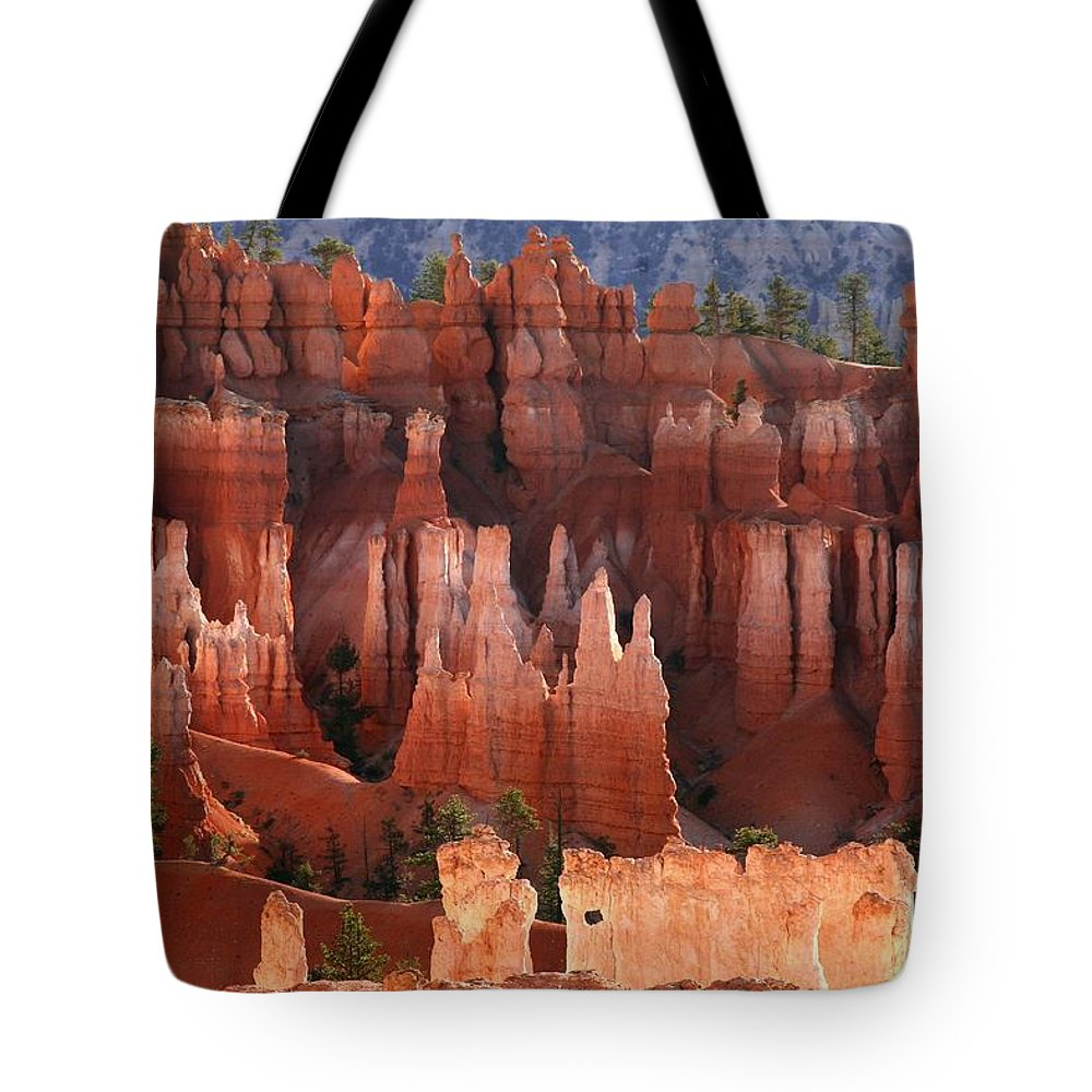 bryce Canyon Tote Bag featuring the photograph Hoodoo Sunrise Bryce Canyon by Winston Rockwell