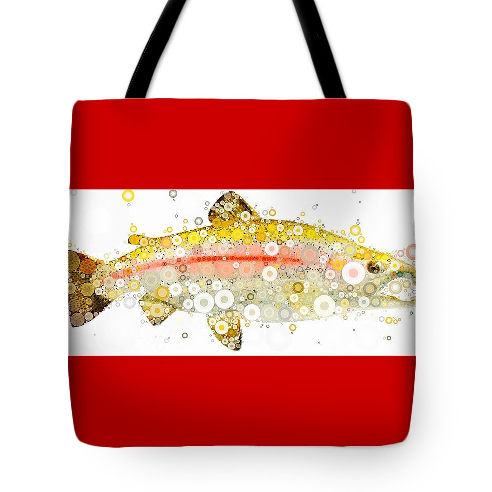 A Fish Tote Bag featuring the digital art Hooknose by Steven Boland