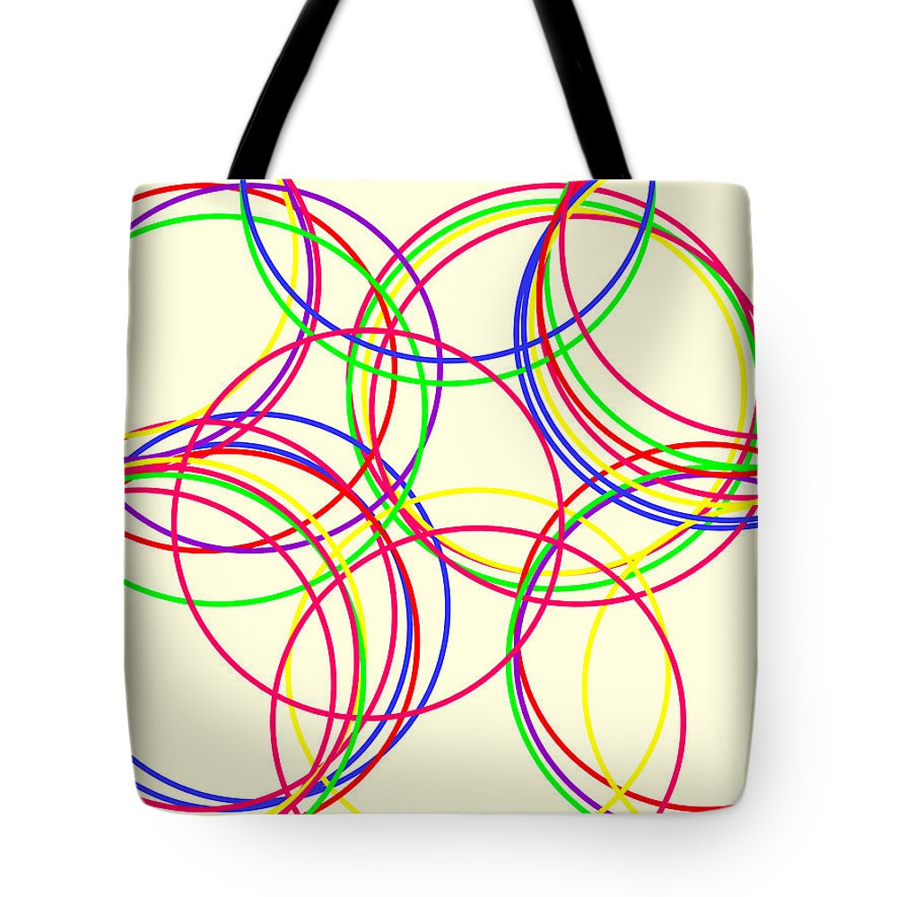 Abstract Tote Bag featuring the digital art Hoops by Geraldine Cote