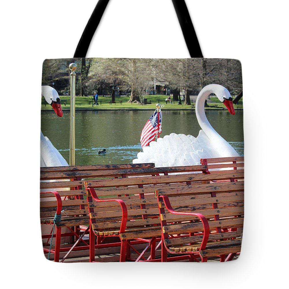 Boston Tote Bag featuring the photograph Hop Aboard by Beverly Tabet