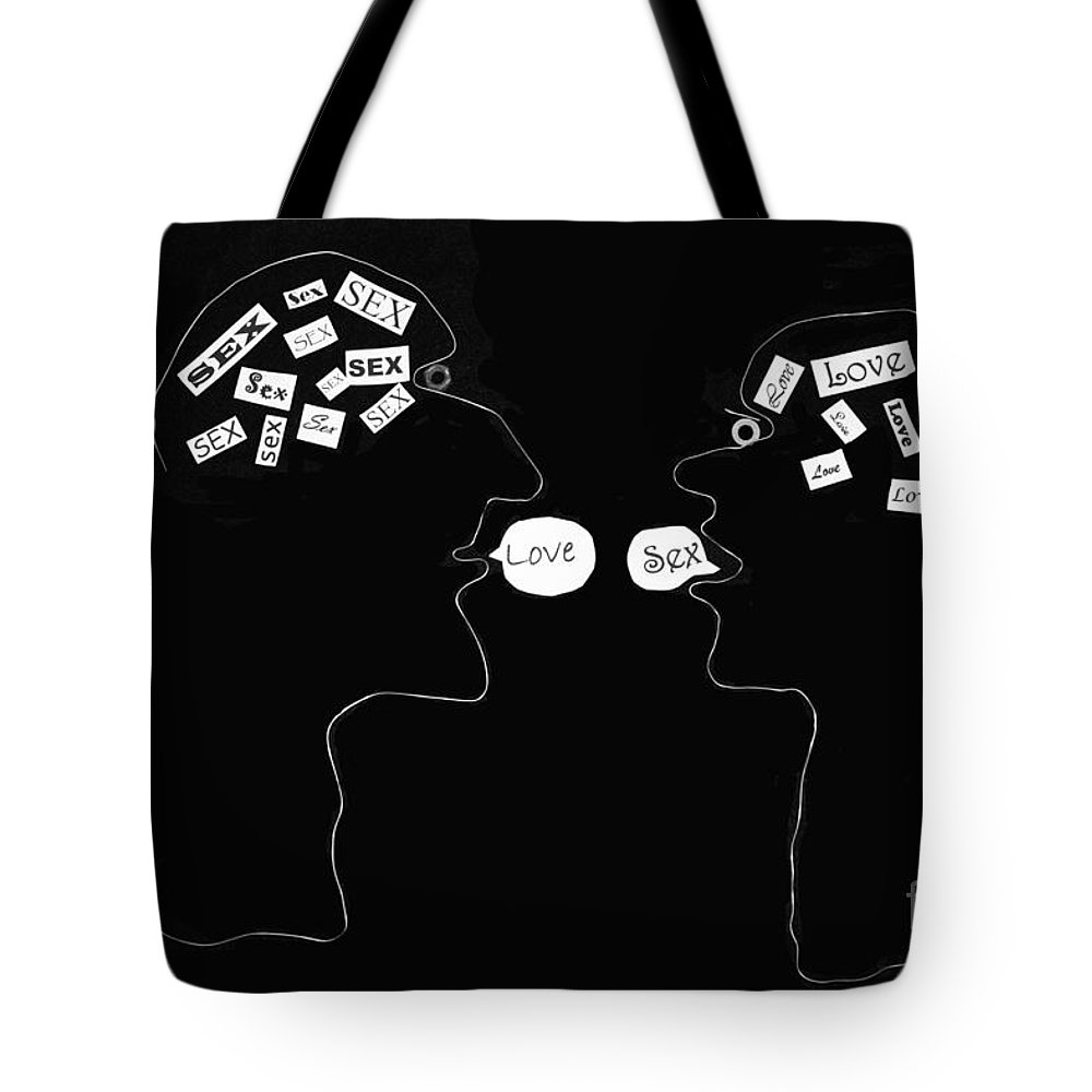 Black And White Sex Print Tote Bag featuring the photograph Hopes And Dreams by Joe Jake Pratt