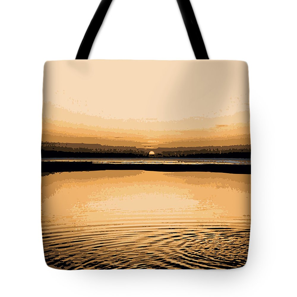 Horizon Tote Bag featuring the digital art Horizon 3 by David Hargreaves