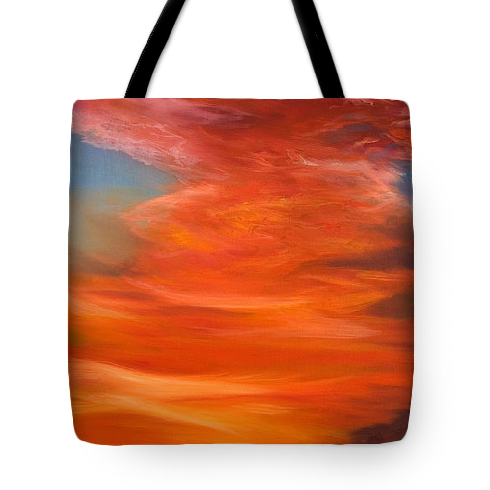 Sunset Tote Bag featuring the painting Horizon by Jennifer Hickman
