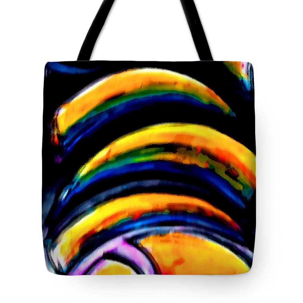 Horn Cape Tote Bag featuring the painting Horn Cape - Motion Blur by Marcello Cicchini