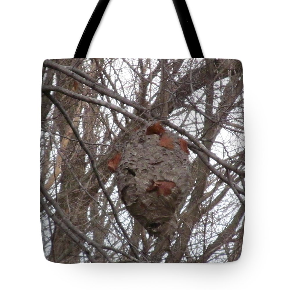 Hornets Tote Bag featuring the photograph Hornets Nest East by Tina M Wenger