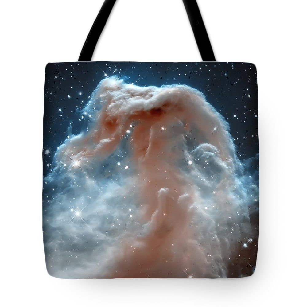 Nasa Images Tote Bag featuring the photograph Horse Head Nebula by Jennifer Rondinelli Reilly - Fine Art Photography