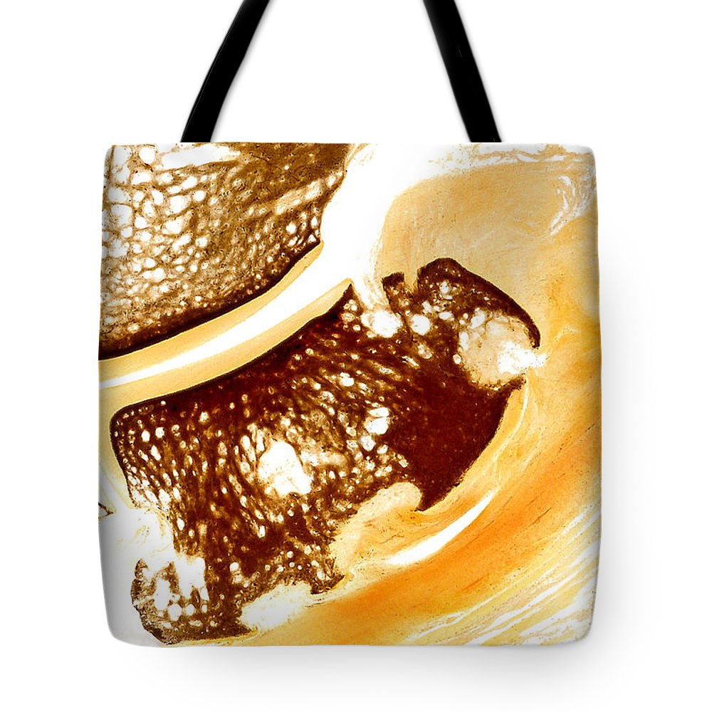 Navicular Tote Bag featuring the sculpture Horse Navicular Bone Pathology 30015 by Christoph Von Horst