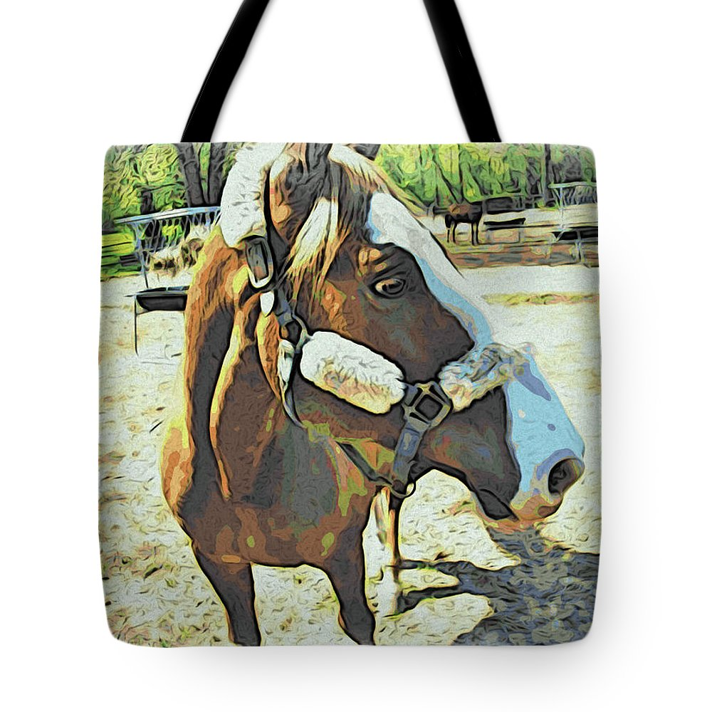 Horse Tote Bag featuring the photograph Horse Point Of View by Alice Gipson