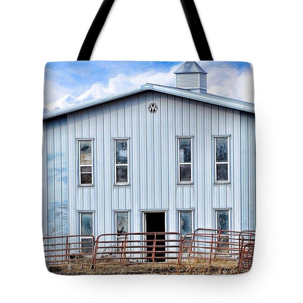 Horse Stable Tote Bag featuring the photograph Horse Stable by Liane Wright